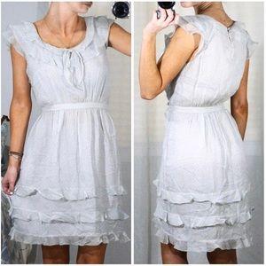 J. Crew Silk Floral Ruffle Hem Mini Summer Dress